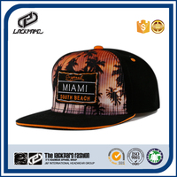 Miami cap snapback hats headwear with sublimation printing