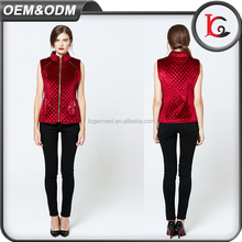 wholesale zipper formal ladies vest winter high collar office wear for women with waistcoat