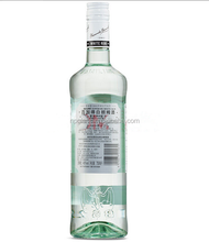 Bacardi rum 750ml clear glass bottles