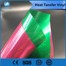 Glitter PU material soft and elastic heat transfer vinyl with customized folder