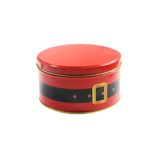 Hot sale decorative customized round cylinder cookie tin packaging cans with lids