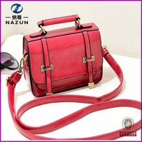 popular candy color cheap satchels bag for school teenagers