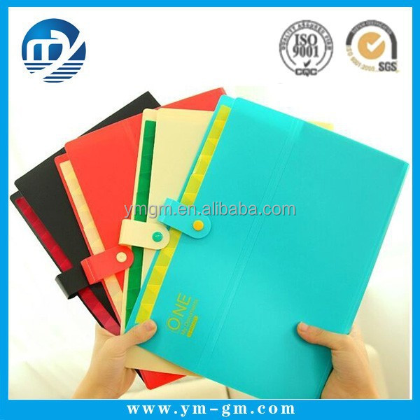 Wholesale custom printed a4 size plastic file folder sheets with flap