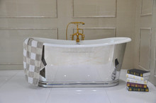 Luxury bath/freestanding cast iron skirted bathtub for soaking