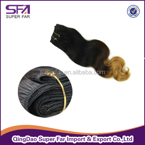 wholesale cheap 7a two tone remy hair extension, ombre hair extension, hair weft/hair extension/hair weaving