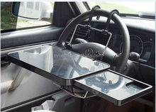 Multi-function car double folding table,On-board laptop table drink frame bracket