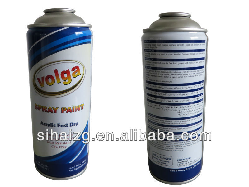 Export 400ml volume spray paint can in Guangzhou