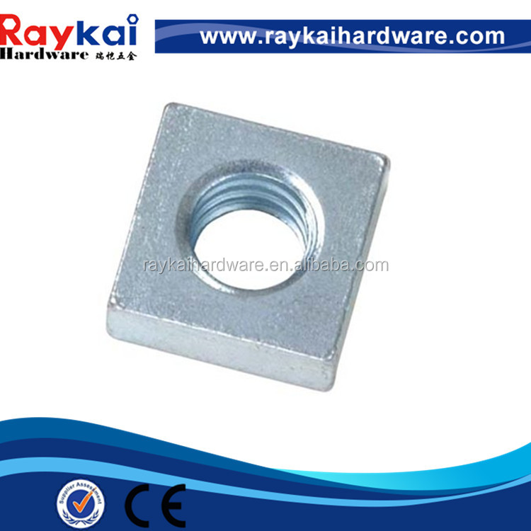 OEM Galvanized Nonstandard Square Nuts M3 M4 M5 M6 M8 Made In China