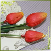 Wholesale cheap fake artificial fabric flowers tulips making for home decor on promotion