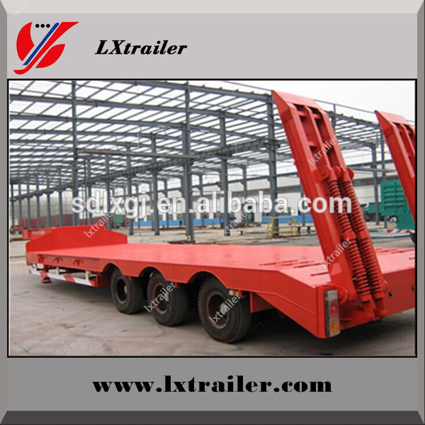 Chinese Liangxiang flatbed semi trailer 80t low bed trailer