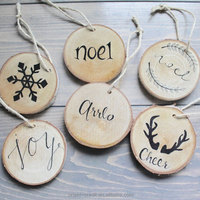 DIY novelty wood sign board blank wood slices with different design