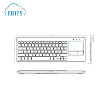 Customise bluetooth desktop keyboard with touchpad