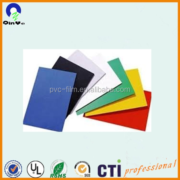 solid pvc board pvc foam board with different colors