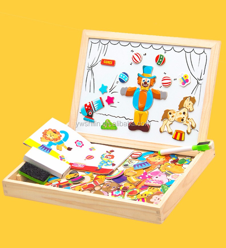 Wooden Magnetic Puzzle <strong>Games</strong> with Double Sided Magnetic Boards