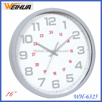 New item 16 inch logo customized advertising home clock
