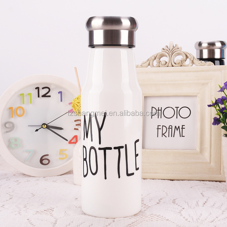 500ML Portable plastic water bottle popular in foreign countries