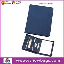 Fashion A5 portfolio nylon zipper portfolio case