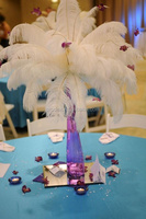 Wedding decoration artificial ostrich feathers centerpieces