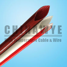 heat resistant insulated fiberglass braid silicone rubber sleeve