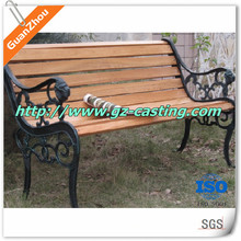 Guanzhou custom cast iron bench ends cheap prices per kg cast parts for cast iron bench