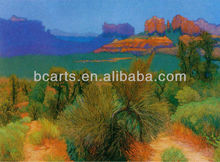 Beautiful Landscape Highland Desert Oasis Oil Paintings on Canvas