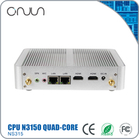 Free shipping cheapest mini nettop computer N3150 htpc dual lan industrial pc x86