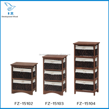 Wooden Storage Cabinet With Rattan/Wicker Drawer