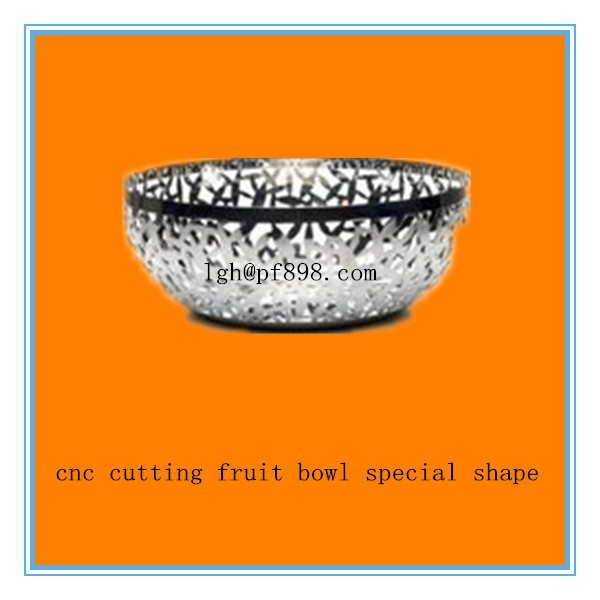 customize cnc cutting fruit bowl special shape,cnc cutting fruit bowl process factory