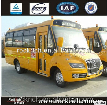 China factory dongfeng 10m dimensions Euro 4 50 seater school bus