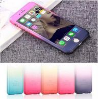 All-round full cover 360 degree protective case with tempered glass screen protector for Iphone6/6S Plus 5.5 Inch