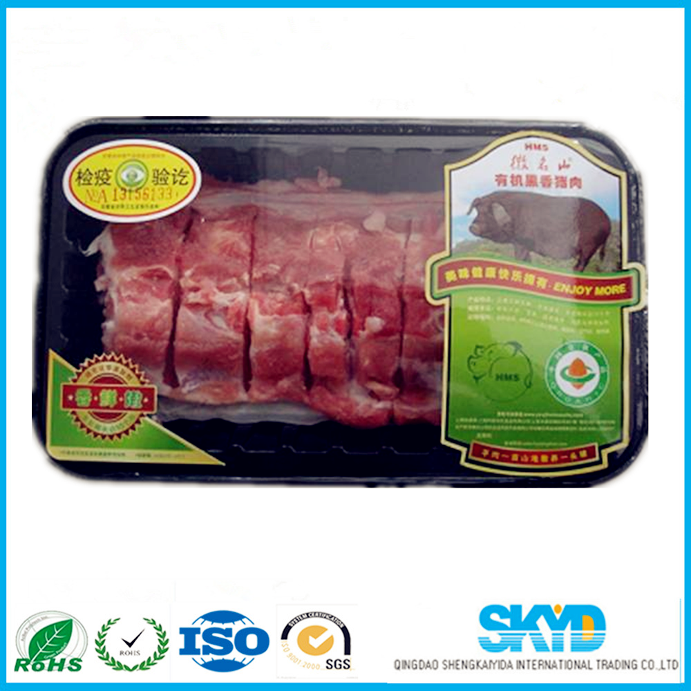 food grade plastic frozen meat pack tray