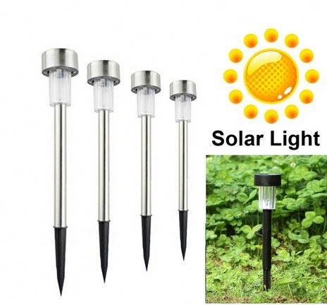 Stainless steel Solar lawn light for garden drcorative 100% solar power Outdoor solar lamp luminaria