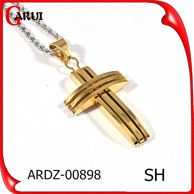 stainless steel gold jewelry pendant necklace unique cross pendants