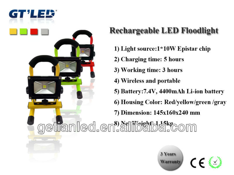 12 hours work time 10w/20w portable rechargeable LED stand work light CE,ROHS,SAA,C-TICK approvel