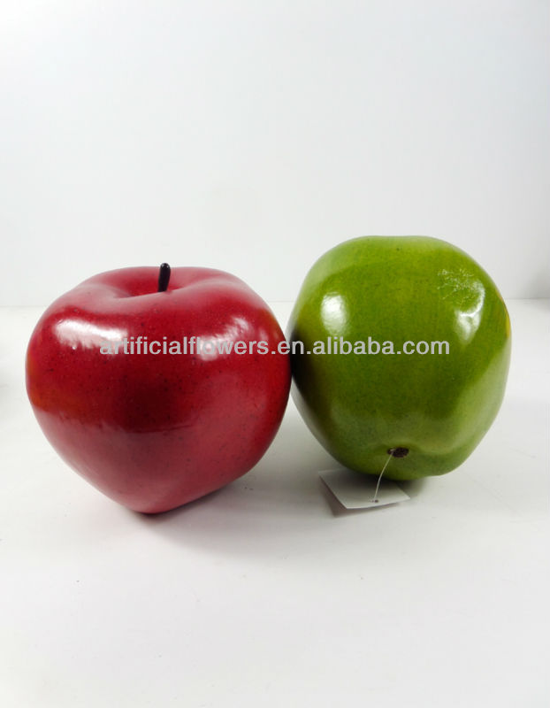 Red and green artificial super big apple wholesale