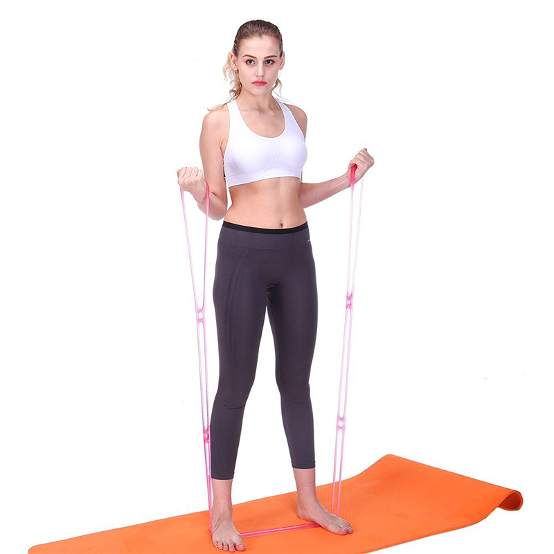 best seller Elastic Portable custom printed resistance bands  sports equipment silicone Resistance Band