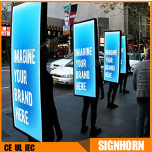 Aluminum Fabric LED Light Box Human Walking Digital Billboard
