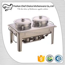 Economy Stainless Steel Hot Pot Cheap Price Chafing Dish 9.0Liter&10Liter Soup Chafing Dish Buffet Used Chafing Dish For Soup