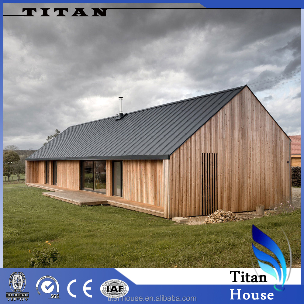 Small Simple Light Steel Frame Wooden House Design