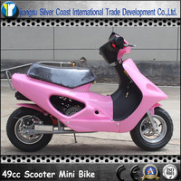 Chinese Hot Sale Pink Color Gas Mini Scooter Bike 49cc for Kids
