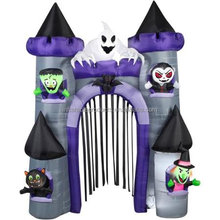 9' Tall x 7' Wide Haunted Archway Castle Halloween Airblown Inflatable