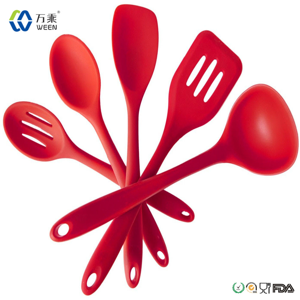 Silicone kitchen utensils sets, silicone molds silicone spoon slotted spoon ladle turner for silicone cooking utensils