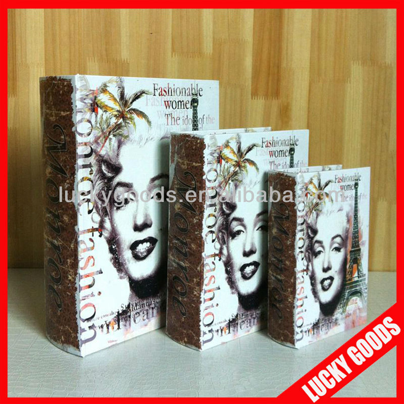 Marilyn decorative fake wood book storage box