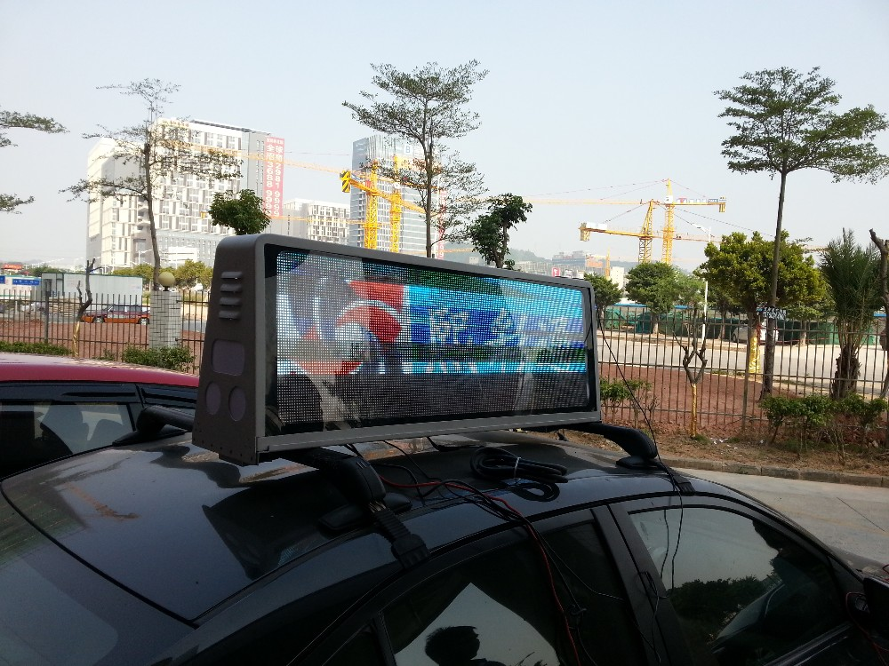 Taxi Top P5 LED Digital Display Full Color 3G WIFI GPS Outdoor Taxi Top Moving Advertising Billboard