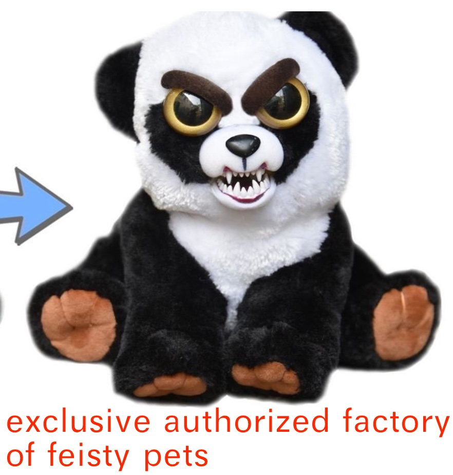 Feisty Pets Black Belt Bobby Plush Adorable Plush Stuffed Panda Squeeze plush toys