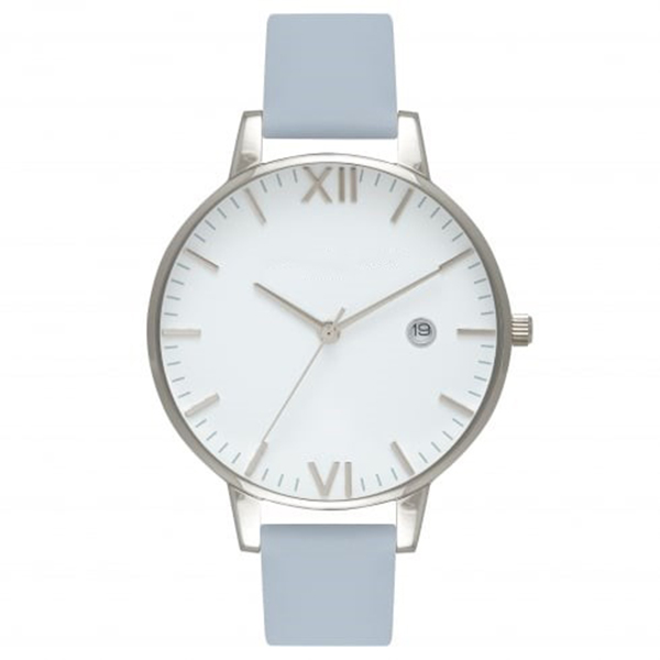 High quality ladies date watches stainless steel back original silver and timepieces