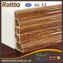 Vinyl Flooring Parts PVC mdf skirting board for flooring accessories