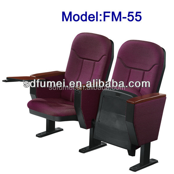 Fumei economic commercial use folding pad church chair with tablet