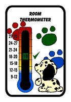 Puppy Nursery Room Thermometer