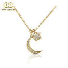 2SHE high quality trendy sterling silver jewelry moon necklace